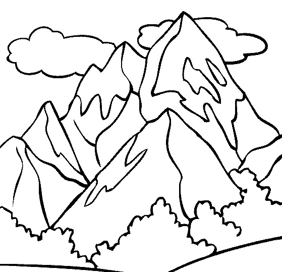 Mountain Peak Coloring Page - Free Printable Coloring ...