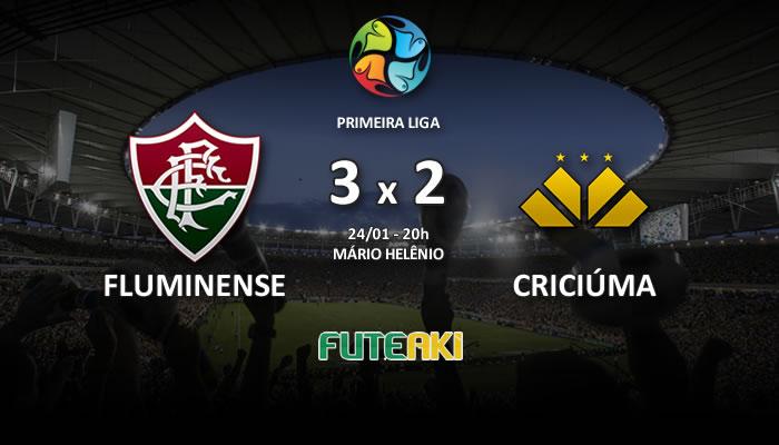 Veja o resumo da partida com os gols e os melhores momentos de Fluminense 3x2 Criciúma pela Primeira Fase da Primeira Liga 2017