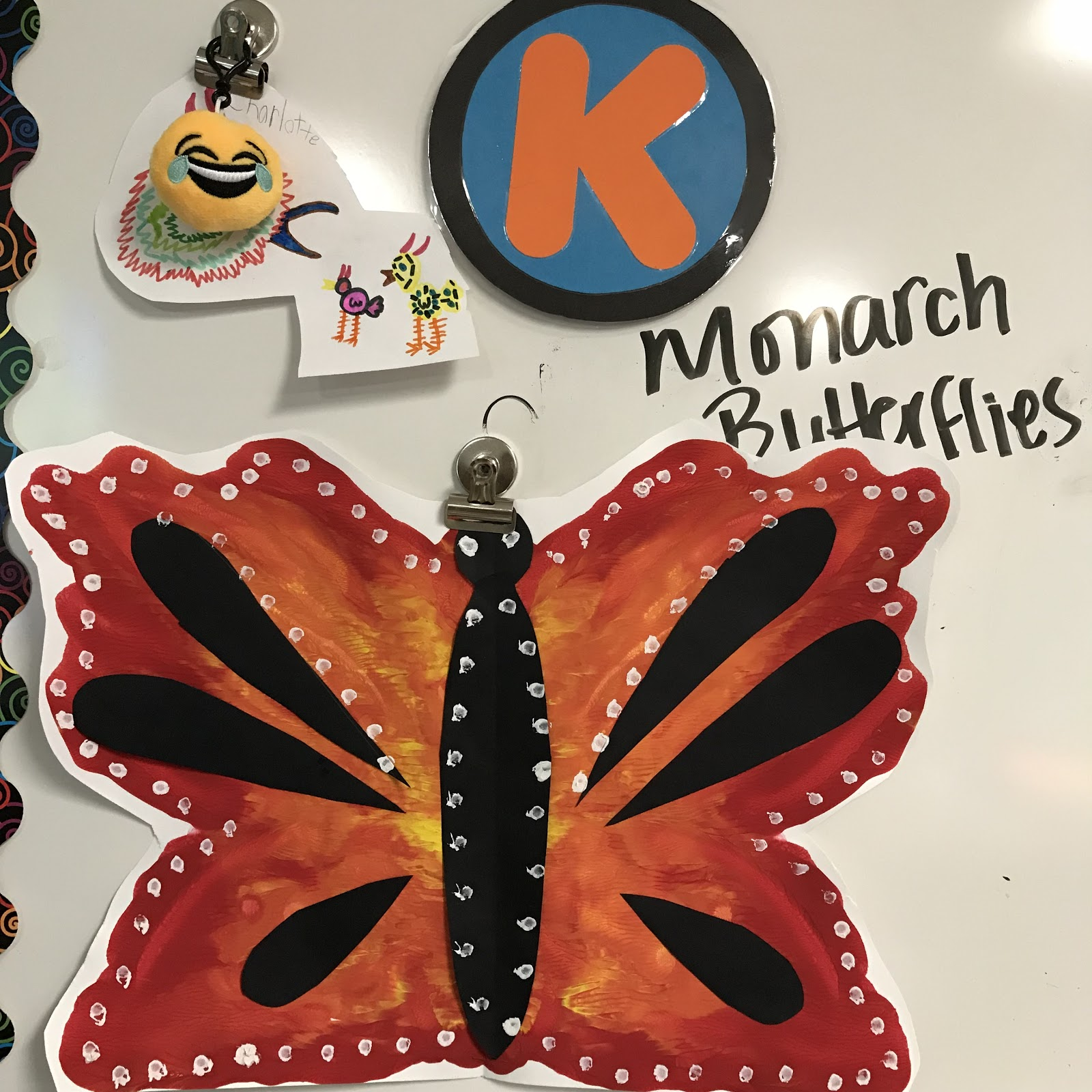 Elements Of The Art Room Kindergarten Symmetrical Monarch