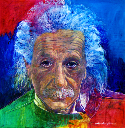 David Lloyd Glover - American painter | Albert Einstein 1879-1955