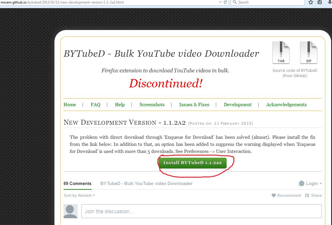 Github Video Downloader