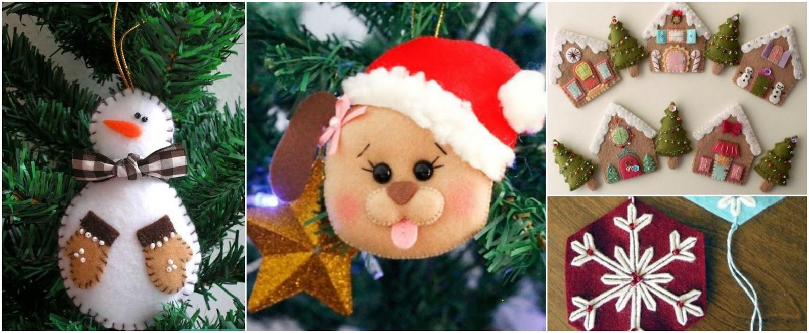 8 adornos navide os en fieltro para decorar en navidad - Adornos navidenos de fieltro ...