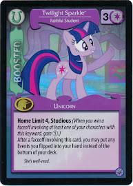 My Little Pony Twilight Sparkle, Faithful Student Premiere CCG Card
