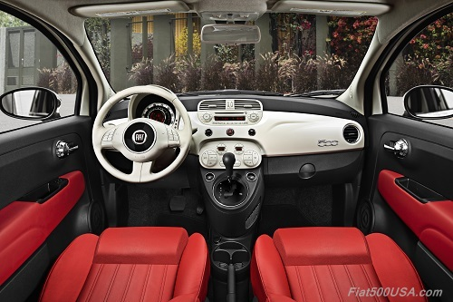 Fiat 500C Dashboard