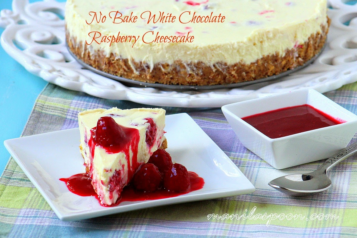 This luscious NO BAKE White Chocolate Raspberry Cheesecake is the ultimate summer dessert. Fresh and sweet-tangy raspberry coulis perfectly complements the rich and creamy cheesecake. Tried and tested, super easy recipe, too!