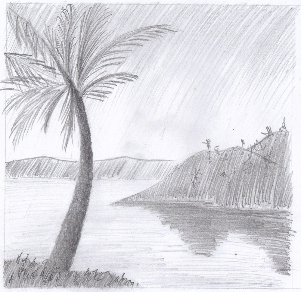 Graphite tree landscape by Nomore4s on DeviantArt |Tree Landscape Drawing