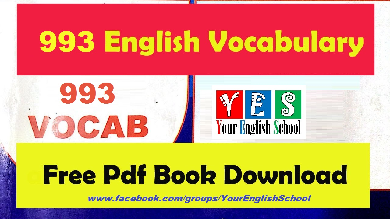 Your English School: Top 993 Vocabulary Words PDF