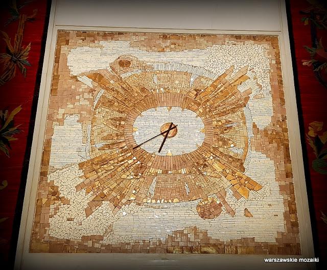 Warszawa Warsaw mozaika lata 60 Barbara Pniewska Krasińska dekor dekoracja wystrój Teatr Wielki