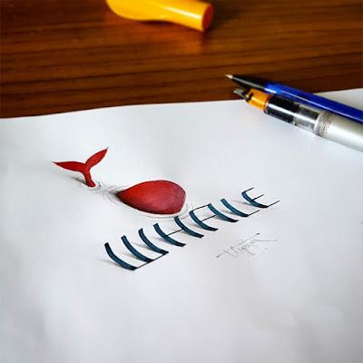 Letras con apariencia 3D
