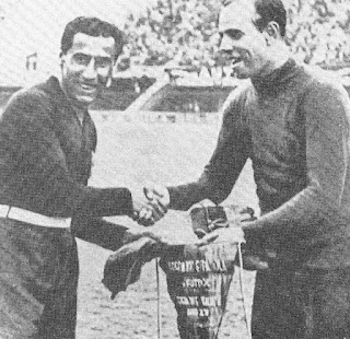 At the 1934 World Cup, Combi found himself up against another of the world's great 'keepers in Spain's Ricardo Zamora  He was given his first-team debut in 1922 in circumstances that were similar to his recall to the national side at the World Cup in 1934, asked to step up after the regular Juventus goalkeeper, Emilio Barucco, was injured.    Combi soon became first choice for the bianconeri and was selected for the Italy national team for the first time in 1924, although his azzurri debut did not go as he had hoped, Italy losing 7-1 to the brilliant Hungary. He later claimed that the match was one of the most important of his career, making him resolve to work harder at his game.    After he finally did retire in 1935, Combi worked for Juventus and for the national federation in various roles as well as developing a career in industry. He died at