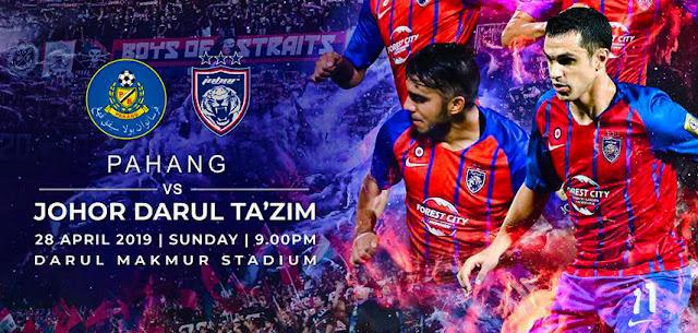 Live Streaming Pahang vs JDT Liga Super 28.4.2019