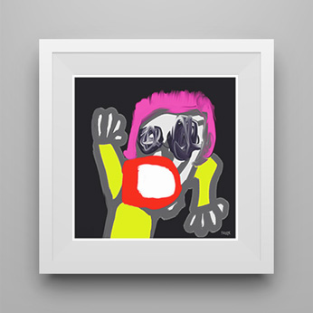 art print, art prints, contemporary art print, portrait art print, modern art print, in the club, artwork, artist, Sam Freek,