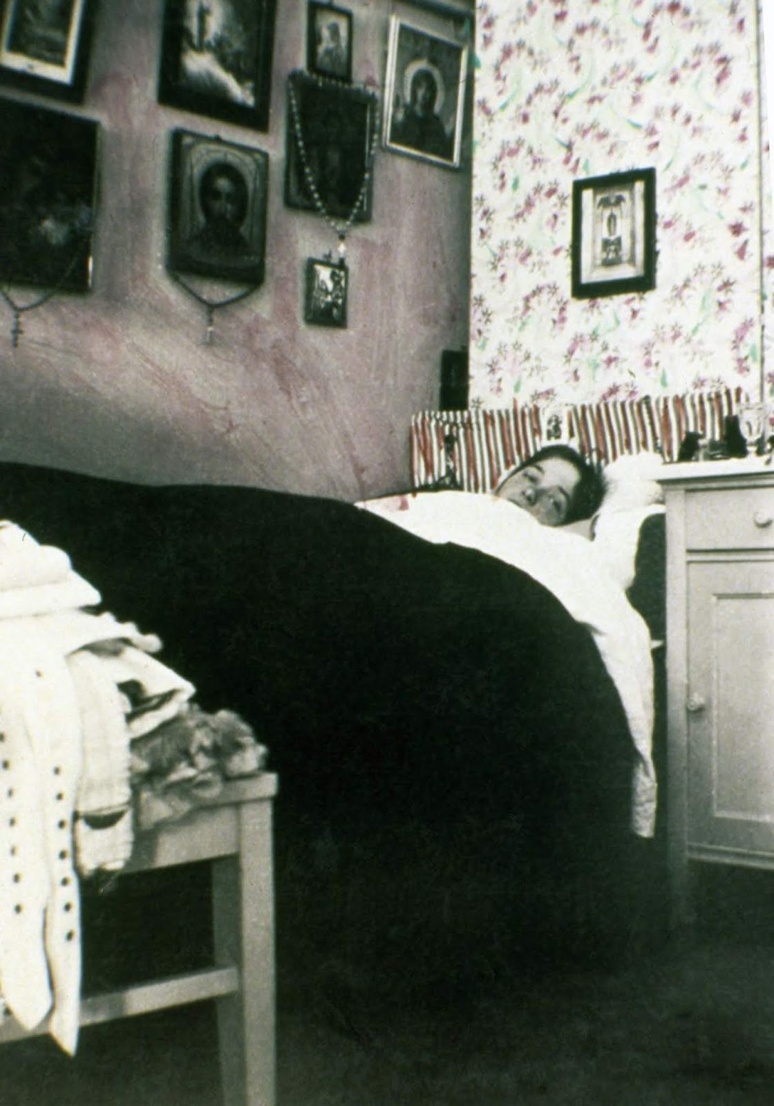 Olga Romanov in her bedroom.
