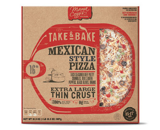 A stock image of Mama Cozzi's Mexican Style Take and Bake Pizza, from Aldi