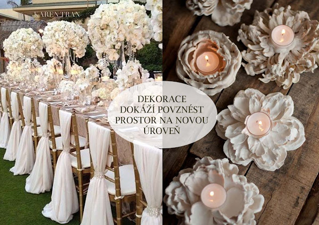 Svatební dekorace si vyrobte sami