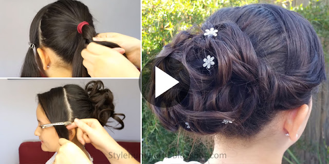 Learn - How To Create Simple And Elegant Hairstyle, See Tutorial
