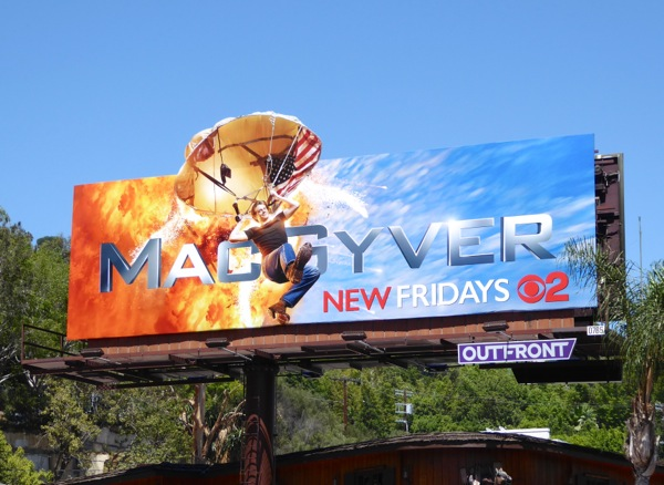 MacGyver 2016 parachute extension billboard