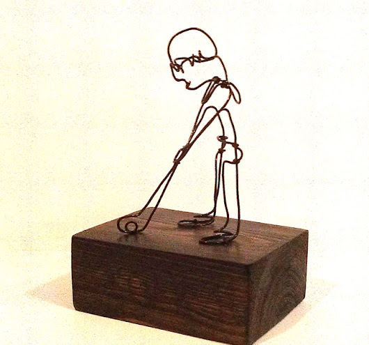 Wire Sculpture Golfer