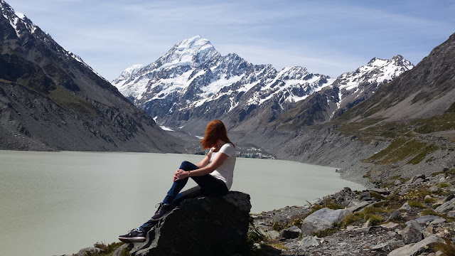 Enjoying the view, Mt Cook - New Zealand