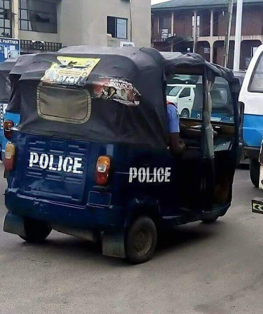 Photos Of Customized Nigeria Police Keke