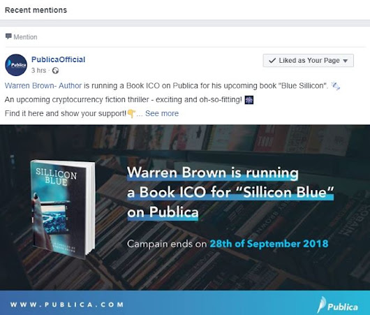 Publica Official Mentions Sillicon Blue on Facebook