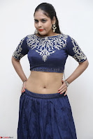 Ruchi Pandey in Blue Embrodiery Choli ghagra at Idem Deyyam music launch ~ Celebrities Exclusive Galleries 014.JPG