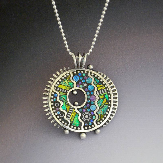 Metal and Polymer Clay Art Jewelry by Lizards Jewelry ...