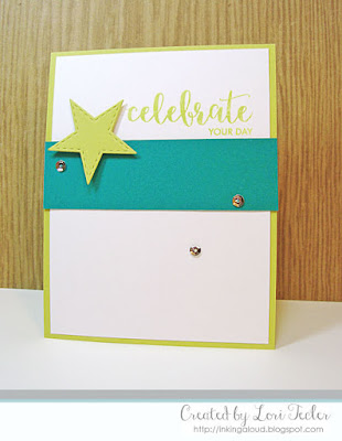 Celebrate Your Day card-designed by Lori Tecler/Inking Aloud-stamps from Avery Elle