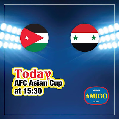 Jordan vs Syria AFC 2019 LIVE STREAMING ( 10.1.2019 )