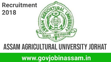 Assam Agricultural University Jorhat Recruitment 2018,govjobinassam
