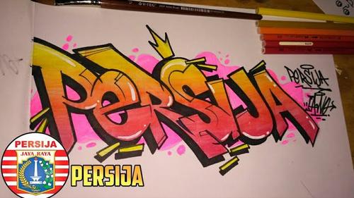 50 Gambar Grafiti Persija Jakarta 3d Di Kertas Dan Tembok Yang