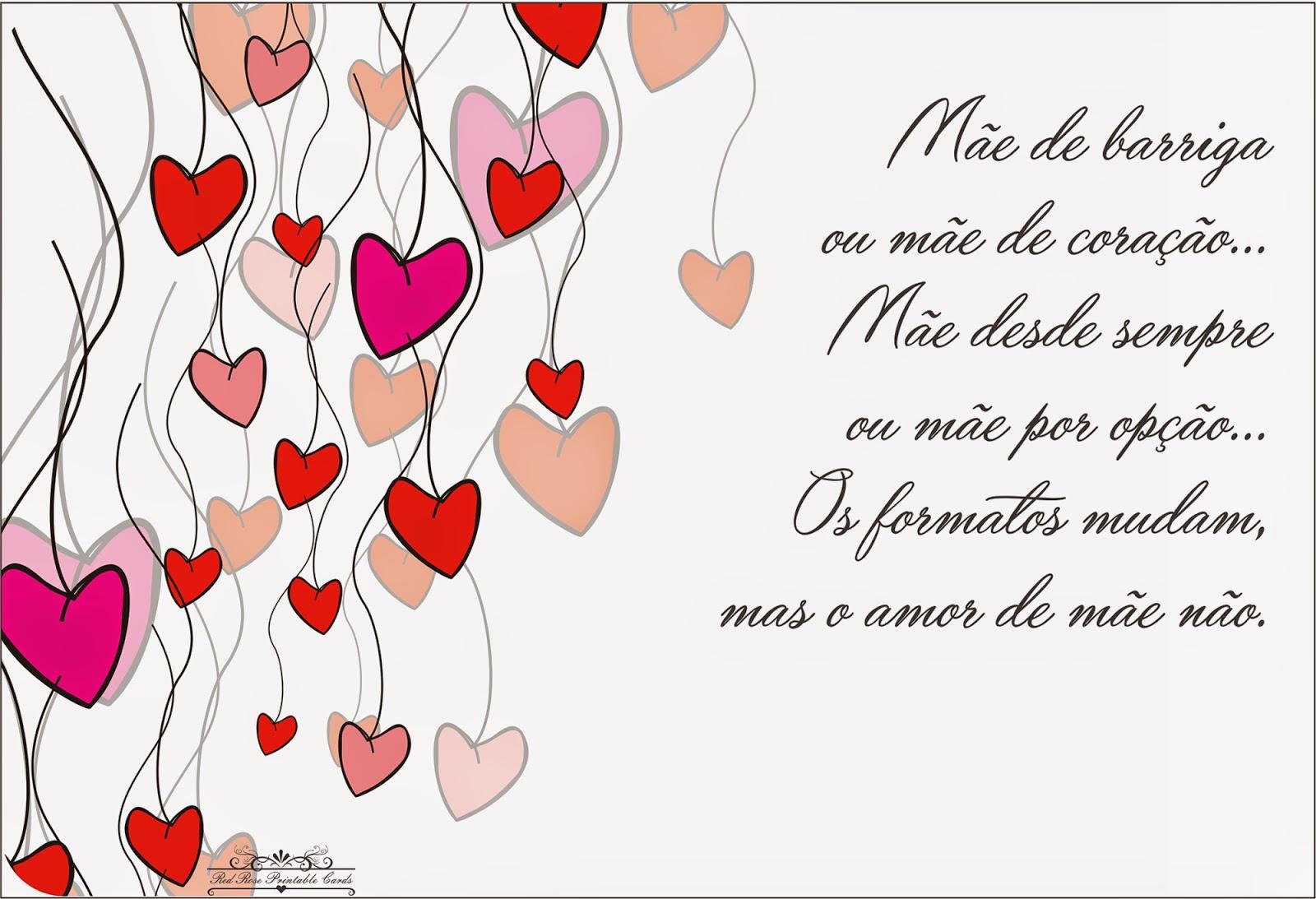 Imagens Bíblicas Para O Dia Das Mães: RED ROSE PRINTABLE CARDS: CARTÃO DIA DAS MÃES
