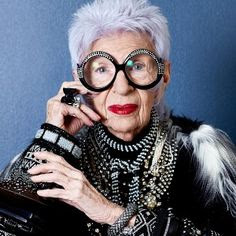 Iris Apfel, fashion renegades, fashion eccentrics, fashion icons