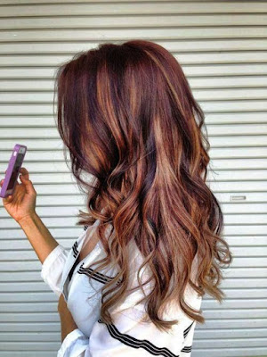 Coppery red hair color