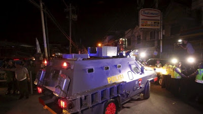 police armored personnel carrier