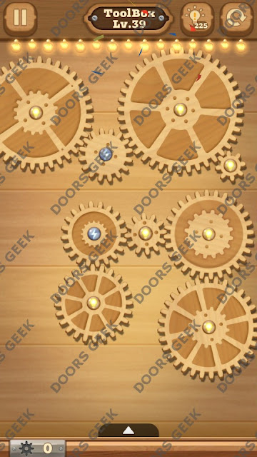 Fix it: Gear Puzzle [ToolBox] Level 39 Solution, Cheats, Walkthrough for Android, iPhone, iPad and iPod