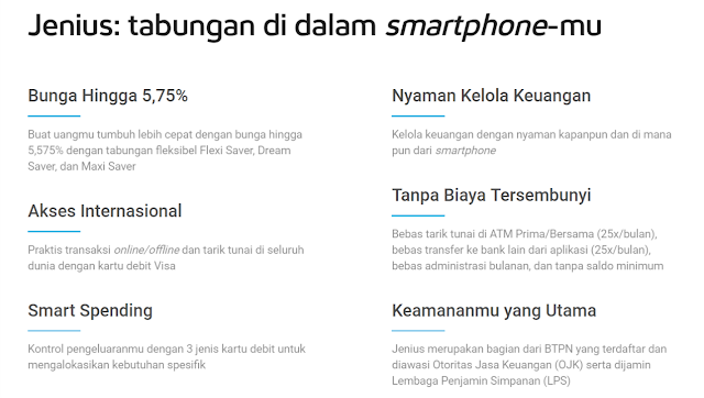 Jenius : tabungan di dalam smartphon-mu