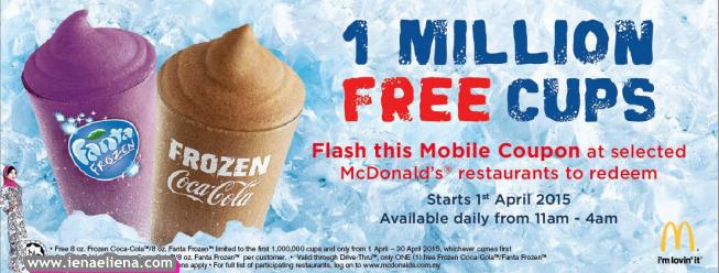PERCUMA Frozen Fanta & Frozen Coca-Cola Macdonald