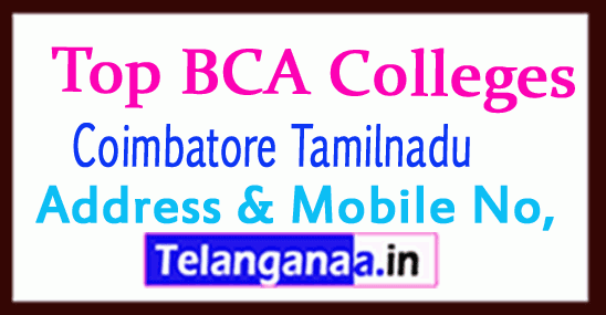 Top BCA Colleges in Coimbatore Tamilnadu