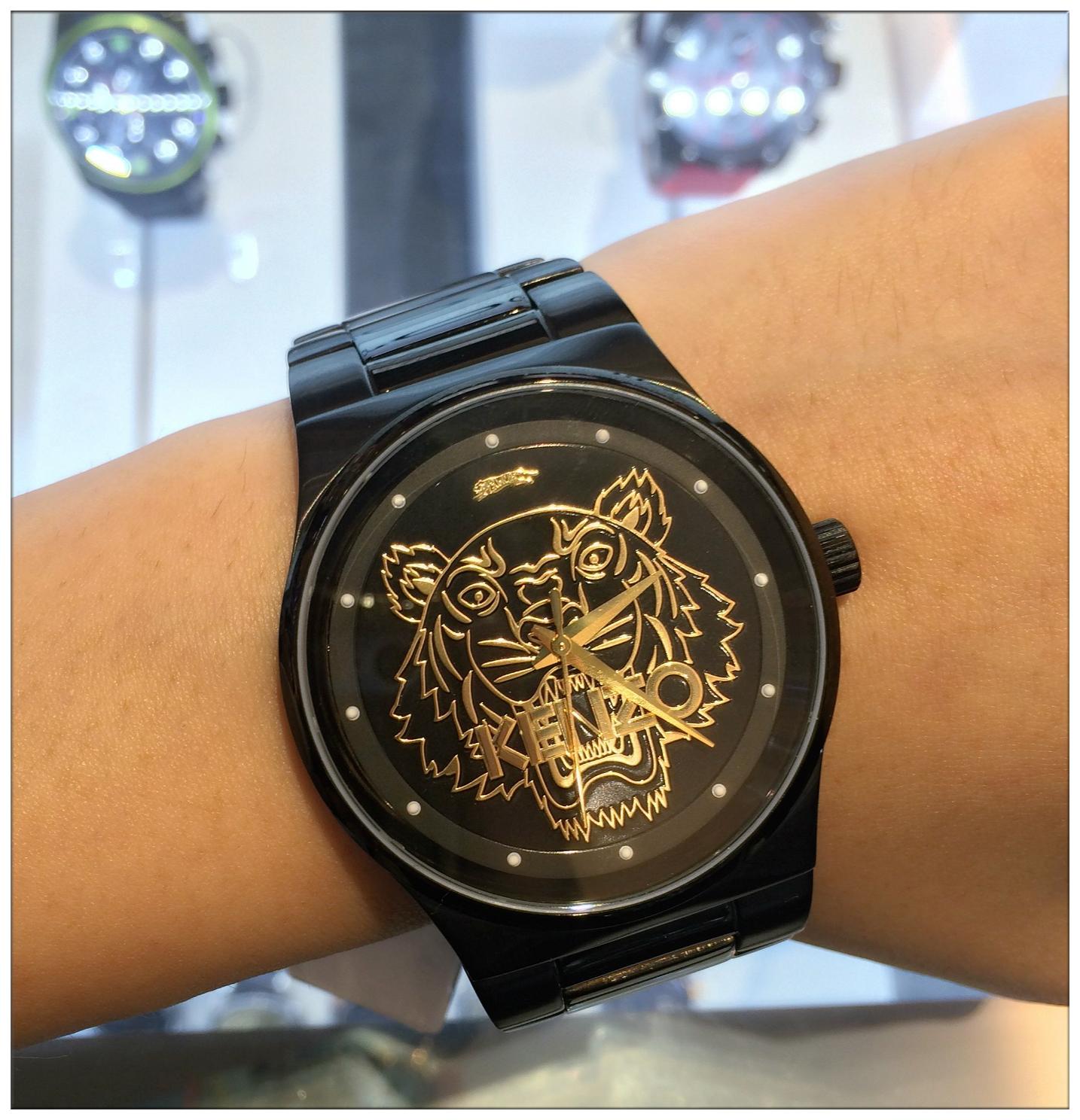 5f2289201 Kenzo Rainbow Small Tiger Head Watch | ASOS