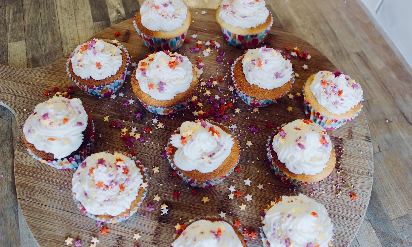 Tanya Burr's Vanilla Star-Sprinkled Cupcakes