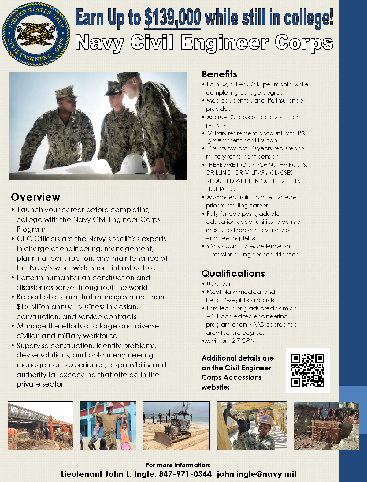 Navy Civil Engineer Corps | Purdue IE Undergrad News and Notes