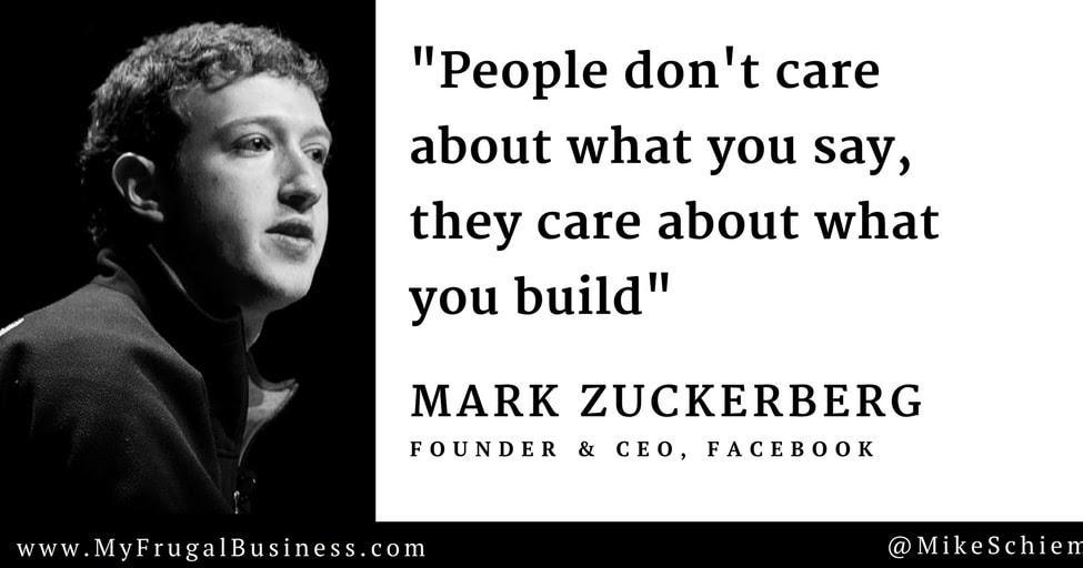 Bootstrap Business Mark Zuckerberg Quotes