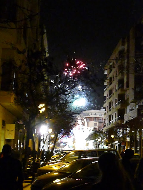 Fireworks during Las Fallas