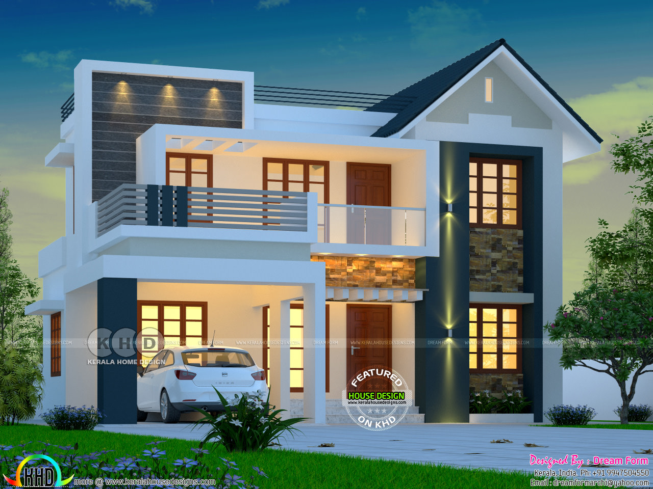 awesome sloped roof house - 13+ Modern Front Design Of House In Small Budget Gif