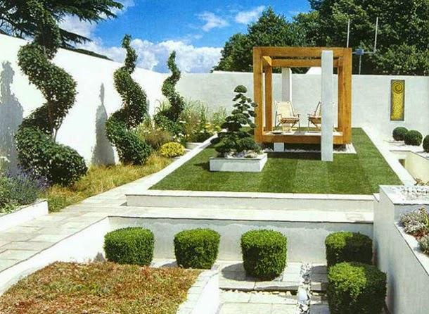 Белый двор в стиле модерн