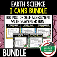 Earth Science I Cans, Student Mastery
