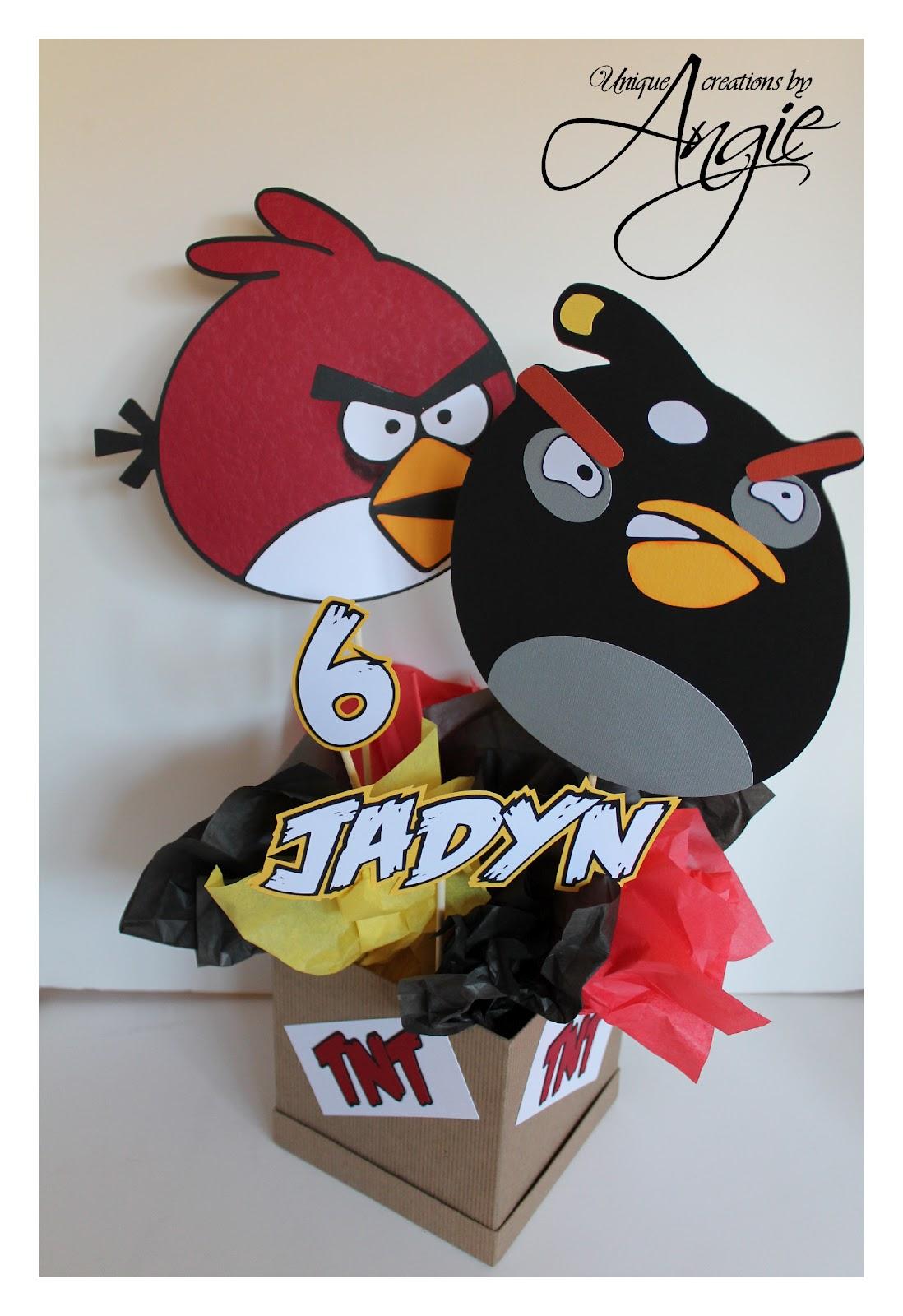Scrappin Memories Angry Birds Centerpieces
