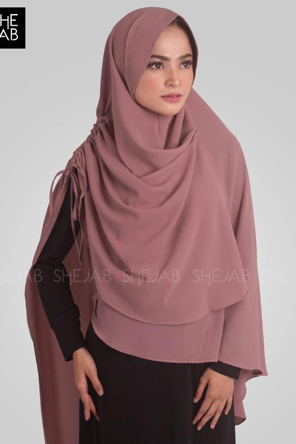 Khimar Syar'i Yoana Dusty Pink