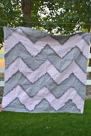 Free Rag Quilt Pattern Chevron